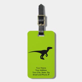 Dinosaur Outline Jurassic Era Luggage Tag