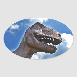 Dinosaur!!! Oval Sticker