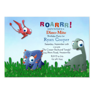 Dinosaur Pals Invitation