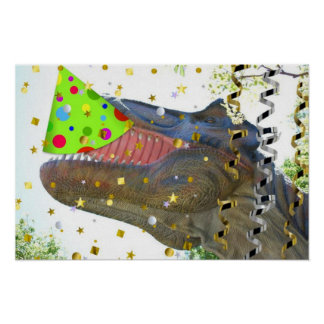 Dinosaur Party Animal Poster