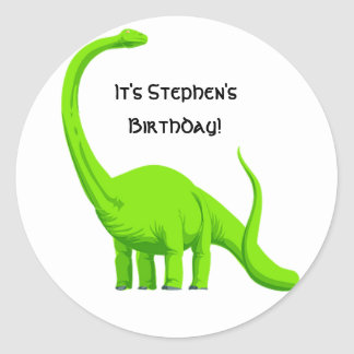 Dinosaur Party Birthday Sticker