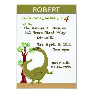 Dinosaur Party 13 Cm X 18 Cm Invitation Card