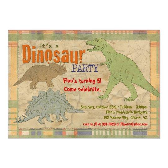 Dinosaur Party Invitation - Personalised