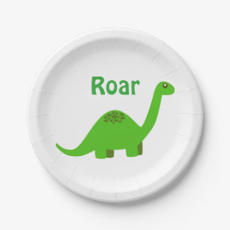 Dinosaur Party Paper Plate