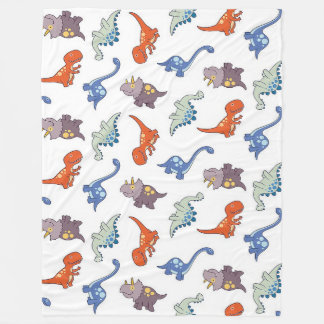 Dinosaur Pattern on Large Fleece Blanket