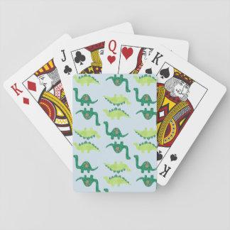 Dinosaur Pattern Poker Deck