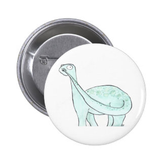 Dinosaur Picking His Nose 6 Cm Round Badge