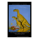 Dinosaur Poster Yangchuanosaurus Greg Paul
