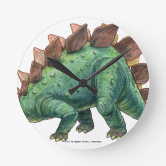 Dinosaur series (Stegosaurus) wall-mounted clock