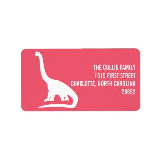 Dinosaur Silhouette Address Label