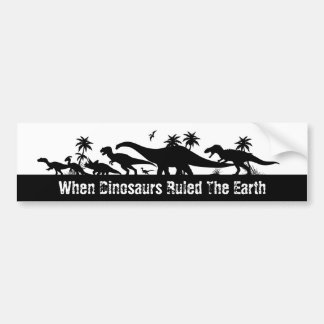 Dinosaur Silhouettes Bumper Sticker