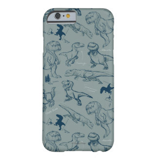 Dinosaur Sketch Pattern Barely There iPhone 6 Case