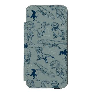 Dinosaur Sketch Pattern Incipio Watson™ iPhone 5 Wallet Case