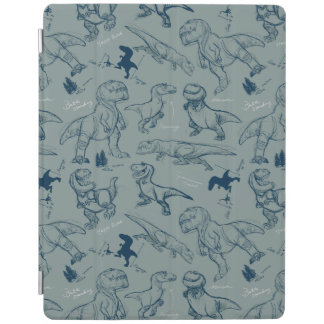 Dinosaur Sketch Pattern iPad Cover