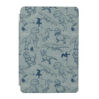 Dinosaur Sketch Pattern iPad Mini Cover