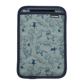 Dinosaur Sketch Pattern iPad Mini Sleeve