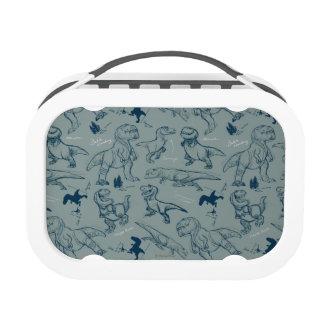 Dinosaur Sketch Pattern Lunchbox