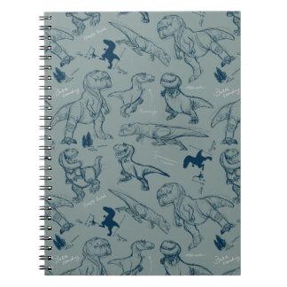 Dinosaur Sketch Pattern Notebooks