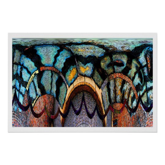 Dinosaur skin abstract poster