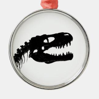 Dinosaur skull skeleton silhouette christmas ornament