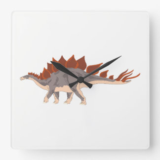 Dinosaur Square Wall Clock
