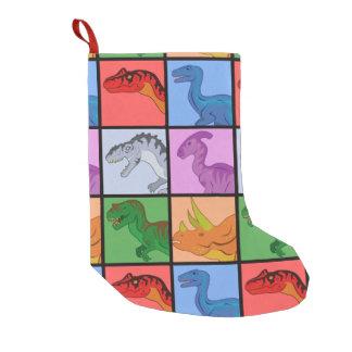 Dinosaur Squares Small Christmas Stocking