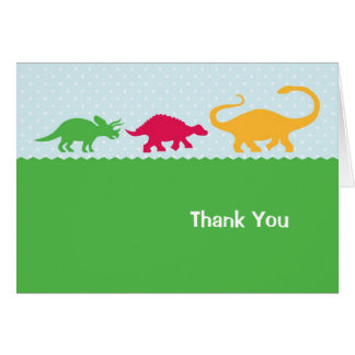 Dinosaur Stampede Thank You Card