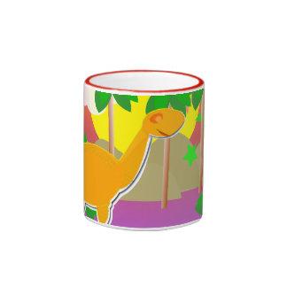 Dinosaur Sunset Ringer Mug