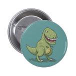 Dinosaur T Rex Cartoon 6 Cm Round Badge