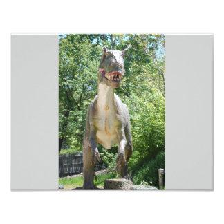 "Dinosaur T-Rex 4.25"" X 5.5"" Invitation Card"