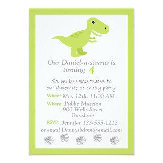 Dinosaur T-rex kids Birthday invitation customize