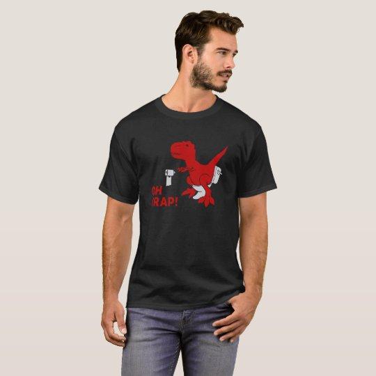 Dinosaur T Shirt T-Rex OH CRAP! Funny Tee