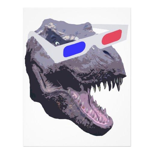 Dinosaur t-shirts full color flyer