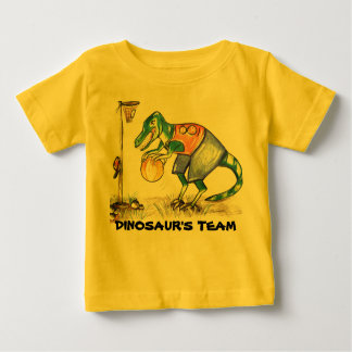 Dinosaur team baby one piece outfit t-shirts