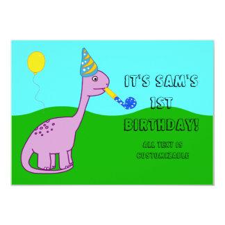 Dinosaur Themed Birthday Invitation