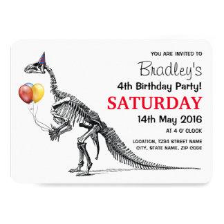 Dinosaur themed Birthday Party 13 Cm X 18 Cm Invitation Card