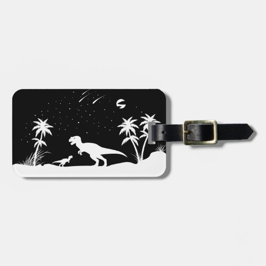 Dinosaur Under The Stars Luggage Tag