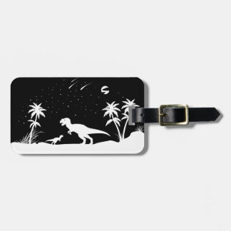 Dinosaur Under The Stars Tags For Luggage