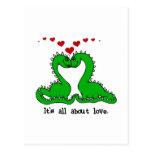 Dinosaur Valentine Love Tshirts and Gifts Postcard
