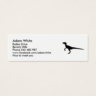 Dinosaur velociraptor mini business card