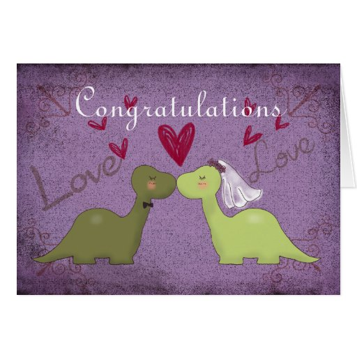 Dinosaur Wedding Card