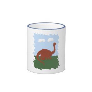 Dinosaur Whimsical Cartoon Art Mugs
