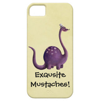 Dinosaur with Mustaches iPhone 5 Covers