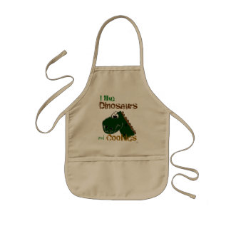 Dinosaurs and Cookies Kids Apron
