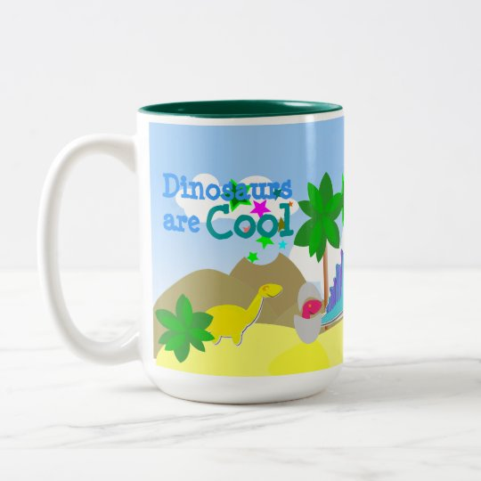 Dinosaurs Are Cool Name Mug
