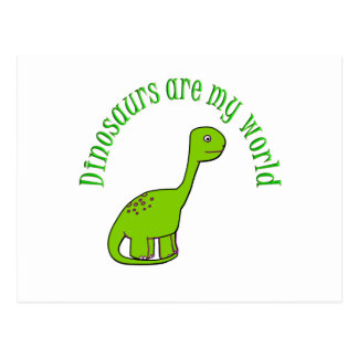 Dinosaurs are my World Post Card