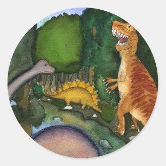Dinosaurs at Creek Sticker