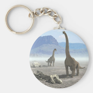 Dinosaurs Basic Round Button Key Ring
