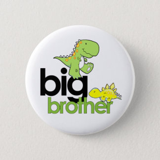 dinosaurs big brother 6 cm round badge