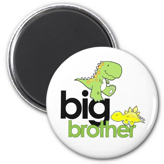dinosaurs big brother 6 cm round magnet